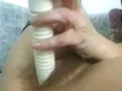 unshaved granny playing with herself