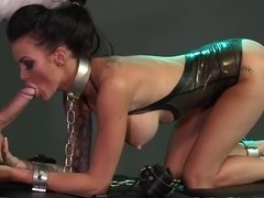 BDSM XXX Sexy tattooed Slave girl get mouthful of cock