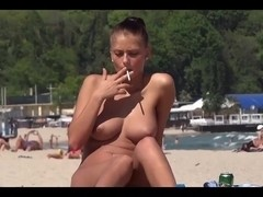 Big titted chicks are seen in amateur voyeur porn