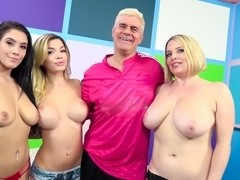 Bibi Noel & Maggie Green & Noelle Easton & Porno Dan in The Sultan Of Porn Braves Into Gazongaland.