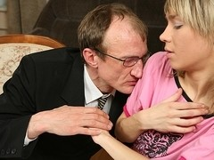 TrickyOldTeacher - Leggy student is fucked good and older teacher enjoys her sexy pussy