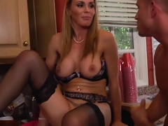 Tanya Tate lets her son's friend cum on her face