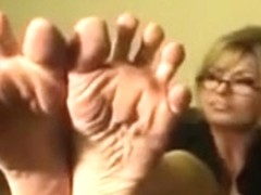 POV Yankee-American Foot JOI by an Office Blond