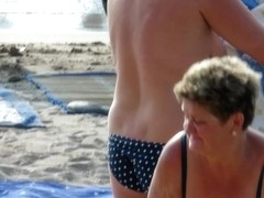 Big Tits Hot Topless MILFs - Amateur Voyeur Beach Video