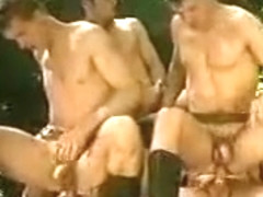 Exotic male in amazing group sex gay sex clip