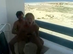 Fucking GF on hotel balcony Gran Canaria