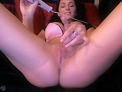 Video of a big tits gir playing with her toy.