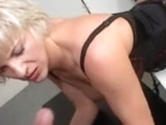 Mature with big tits riding a young cock like a slut