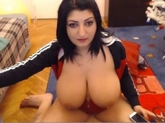 Webcams 2014 - Romanian with BIG ASS TITTIES 2