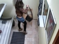 Hidden Cam Young Girl is Touching her Pussy in Solarium