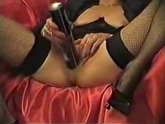Wife In High Heels Permeates Her Cum-Hole With Recipient