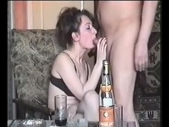 Partying and sucking a hard boner