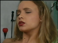 Juvenile angel receives her virgin a-hole drilled
