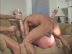 Redhead Gets Double Anal Sex