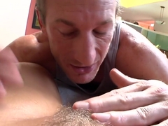 Perfect pussy gets a creampie
