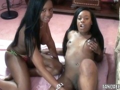 Lesbian coeds Mercy Starr and Rachel play with toys