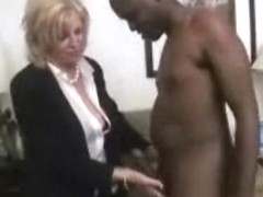 Aged lady Anneke tries the BBC clothed hot for sex