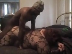 Giant big beautiful woman drilled well by dark boy