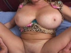 Breasty Blond Aged Bonks and Acquires a Facial