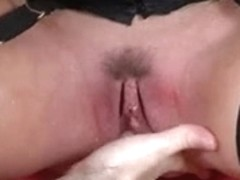 GOLDEN-HAIRED SQUIRTING IN NYLONS