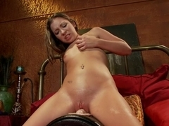 Exotic fetish porn clip with hottest pornstar Sasha Hall from Fuckingmachines