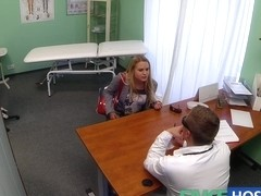 Dizzy juvenile blond takes a creampie and begins to fall for the doctor