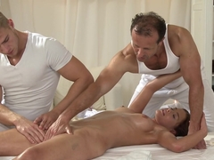 Crazy pornstars Kelly White, Ken Yontz, George in Best Massage, College porn movie