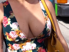 Hot Kitty Caprice gets her pussy smashed roughly outdoor