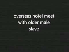 Overseas hotel meet wih older male serf
