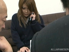 Curvy Japanese office girls headfucked by horny colleagues