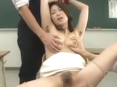 Hottest Japanese model in Incredible Facial, Threesomes JAV clip