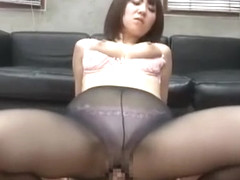 Crazy Japanese whore Nozomi Hara in Exotic Stockings/Pansuto, Fingering JAV clip