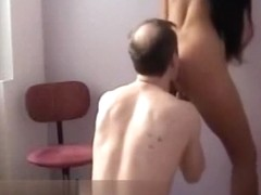 German couple cowgirl, pussy eating and doggystyle action in their house.