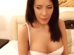Model BelleClairee smokes and shows his naked body