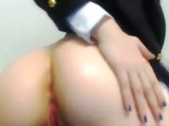 Sticking sex toy in the one and the other my holes