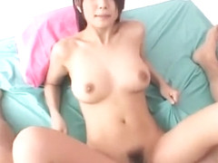 Horny Japanese model Azumi Harusaki in Crazy Cunnilingus, Big Tits JAV video