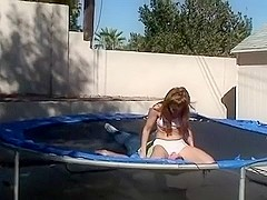Trampoline smother and butt bounce
