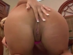 Curvy blonde MILF teases with her curves