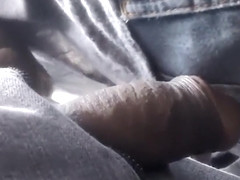 Brazilian guy tries to rub his penis against her ass