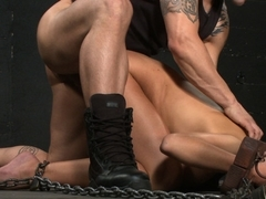 Fabulous fetish xxx movie with incredible pornstars Nika Noire and Derrick Pierce from Dungeonsex
