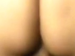 Obese white playgirl acquires her shaved bawdy cleft filled with fresh warm cum