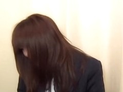 Busty Japanese teen went to gyno to get her twat toyed