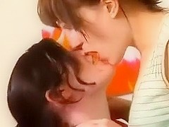 Horny lesbians finger, and lick each others pussies.