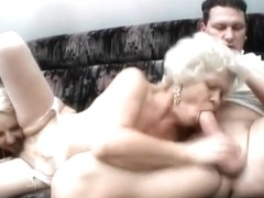 Hard grandmas banging session