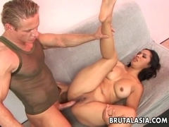 Asian babe Nakia Ty gets her pussy and ass fucked