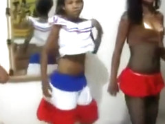 Dominican girls showing off their juicy bums
