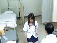 Asian teen babes get naked during their medical exams