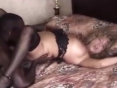 Incredible Amateur record with MILF, Stockings scenes