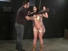 Incredible fetish, brunette xxx clip with horny pornstar Beverly Hills from Dungeonsex