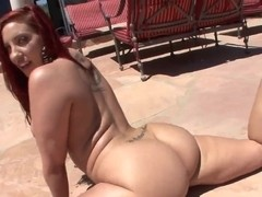 Busty Kelly Divine shows her big cellulites ass